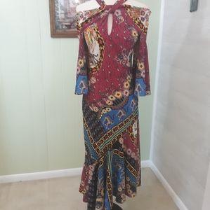 ETRO off shoulder handkerchief dress sz 6 NWT *V